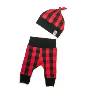 Red Buffalo Plaid Newborn Set