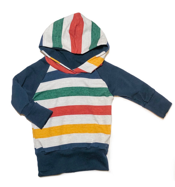 Primary Stripe Grow With Me Hoodie