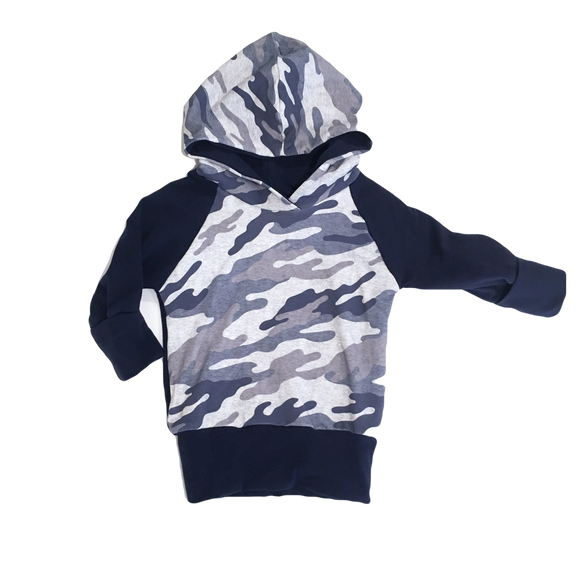 Navy Camo Grow With Me Hoodie