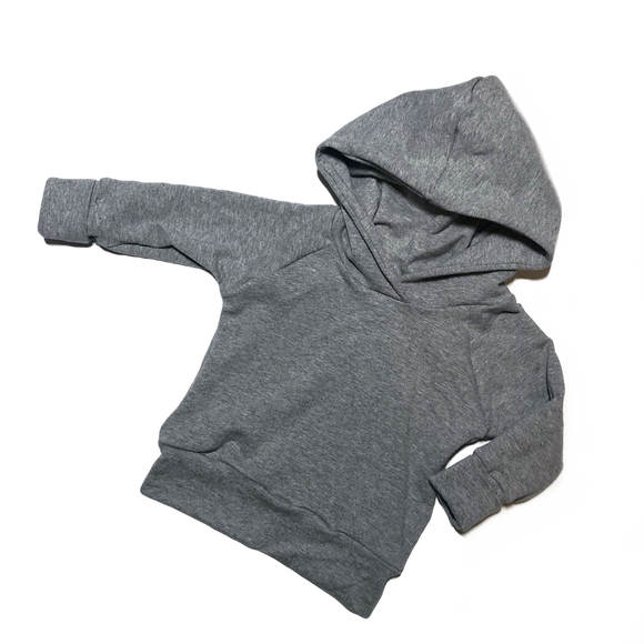 Heather Grey Grow With Me Hoodie