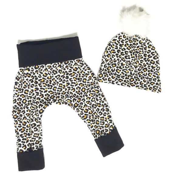Leopard Print Grow with me Pants
