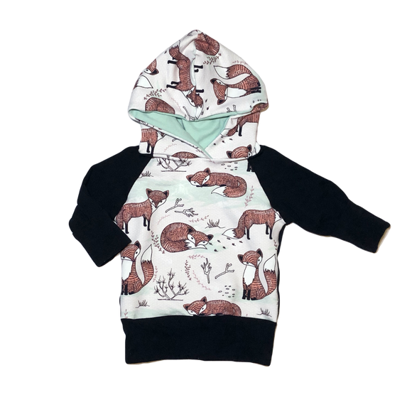 Mint Foxes Grow With Me Hoodie