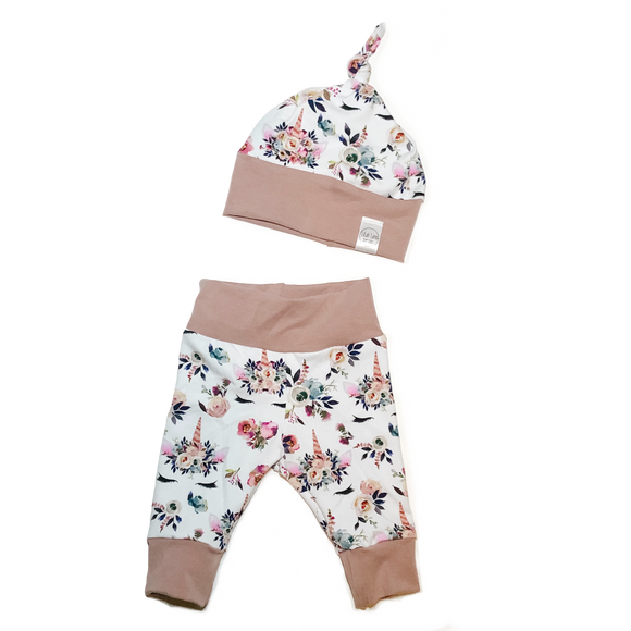 Floral Unicorn Newborn Set