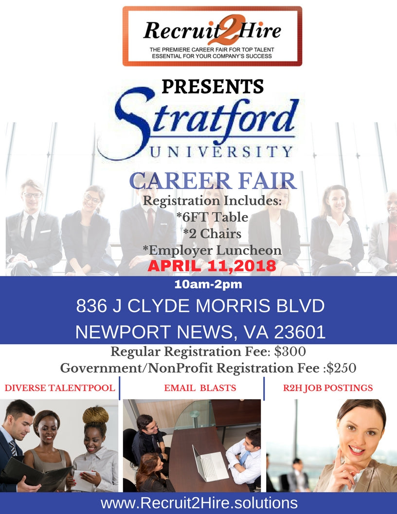 REGULAR VENDOR: April 11th Recruit2Hire Career Fair - Employer/Vendor Details