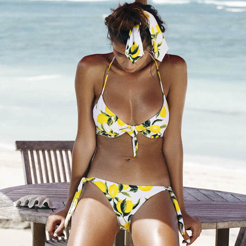 Lemonade | Bow Tie Bikini,  - Goddess Body Co.