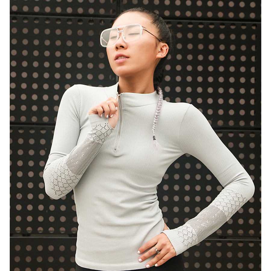 Zip Up Running Top,  - Goddess Body Co.