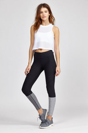 Mesh Yoga Crop Top, Yoga Shirts - Goddess Body Co.