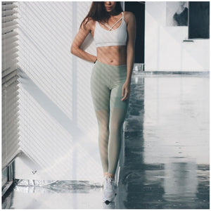 Olivia In Green | High Waisted Legging, Yoga Pants - Goddess Body Co.