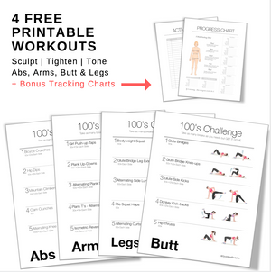 On-the-go  Printable Workouts,  - Goddess Body Co.