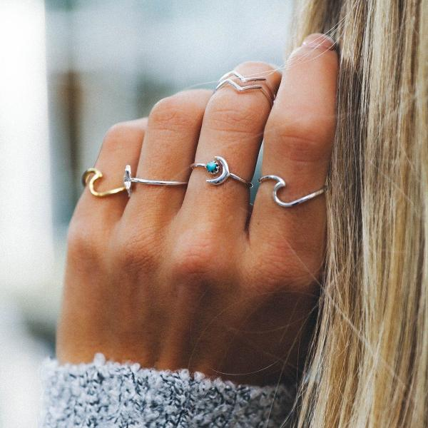 Ocean Lovers Ring, Rings - Goddess Body Co.