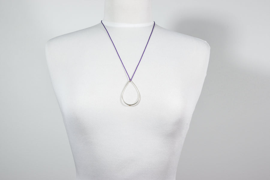 Linda Van Niekerk: Dew Drop Necklace - Silver