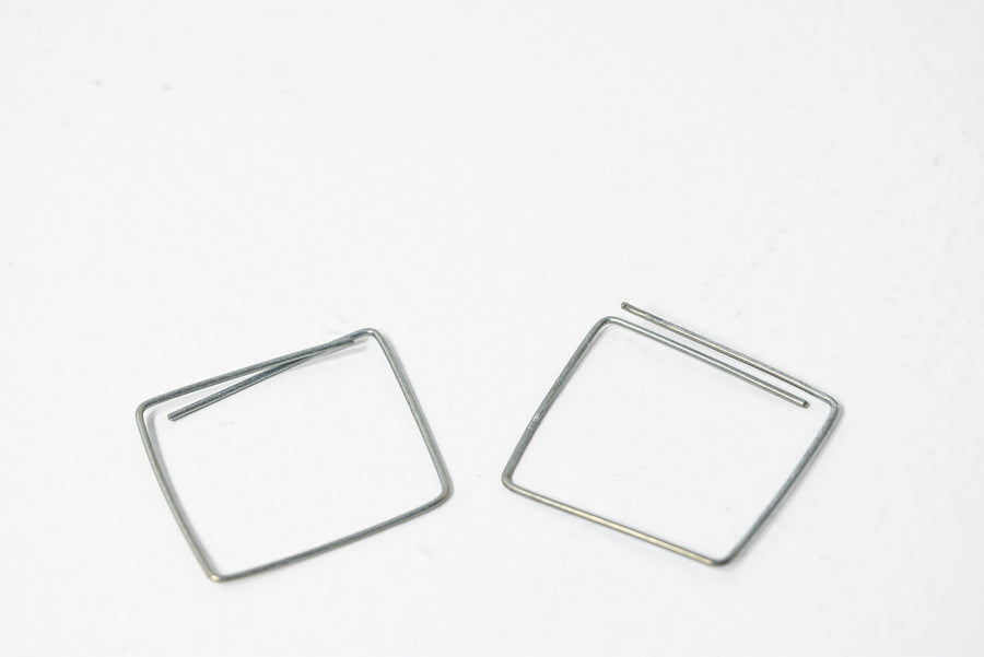 Tanja Von Behrens: Square Wire Earrings