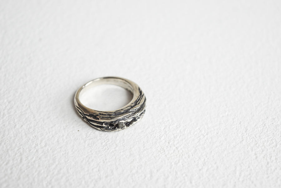 Gavin MacSporran: Oxidised Sterling Silver Ring