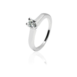 Solitaire ring.