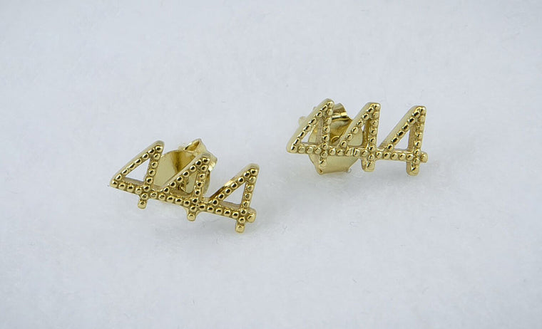 444 Stud Earrings
