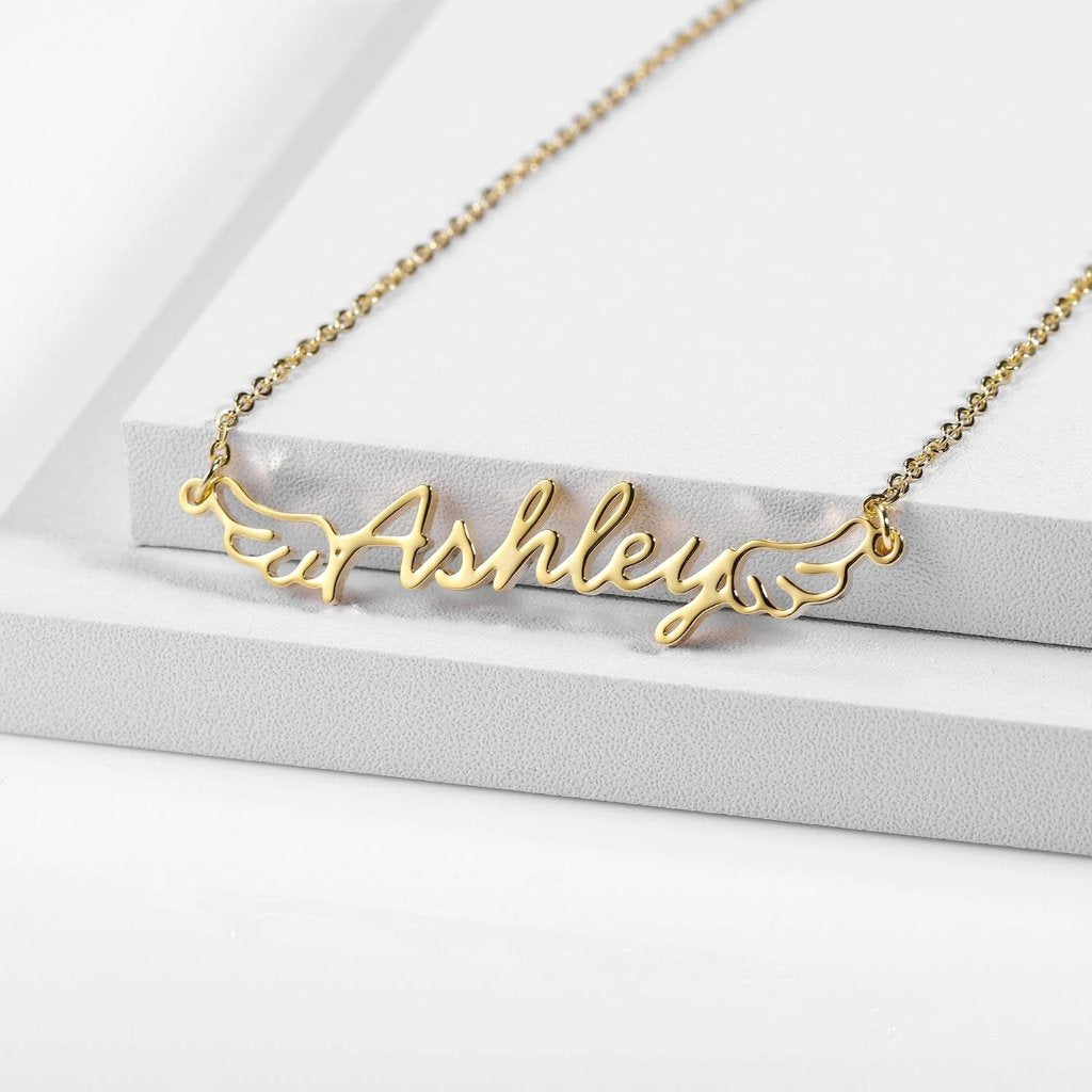 Encoreusa Custom text Gold Charlie's Angels Necklace