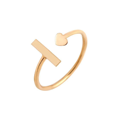 Encoreusa Custom text Rose Gold / Resizable Forever Engraved Ring