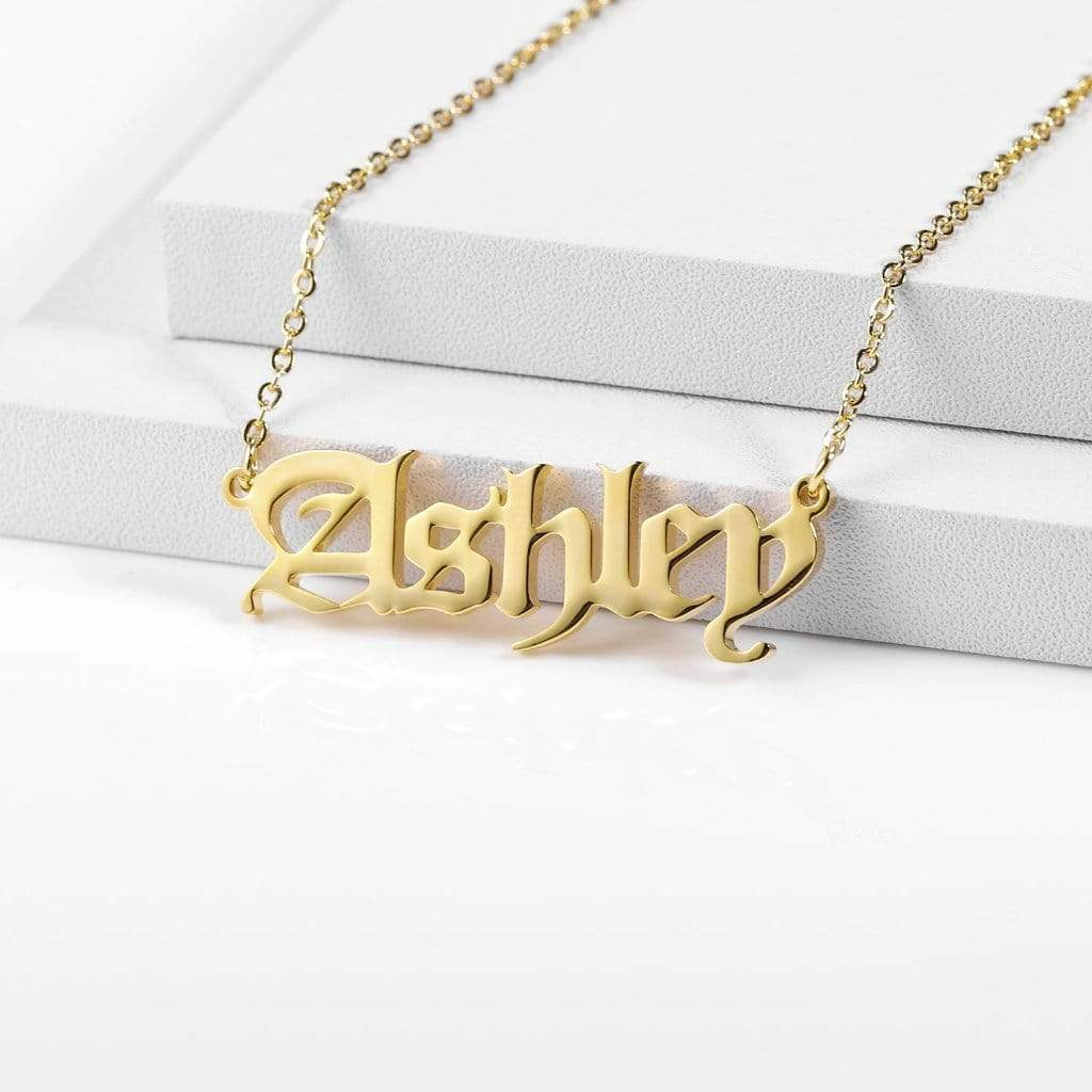 Encoreusa Custom text Gold The Royal Family's Necklace