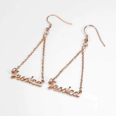 Encoreusa Custom text Gold The Encore Drop Earrings