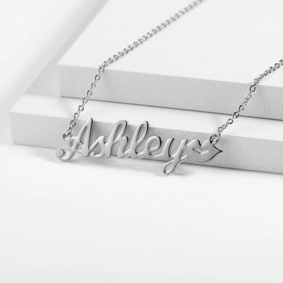 Encoreusa Custom text Gold Kisses Necklace