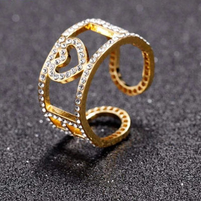 Encoreusa Gold / Resizable Ice Ice Baby Ring
