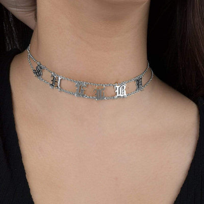 Encoreusa Custom text Gold The Royal Family's Choker