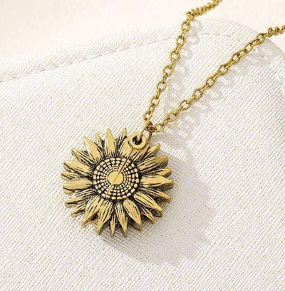 "Encoreusa ""You are my sunshine"" sunflower necklace"