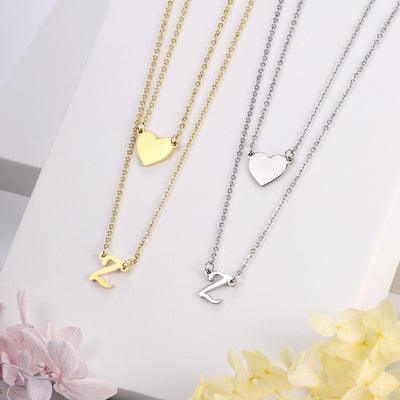Love Yourself Initial Necklace