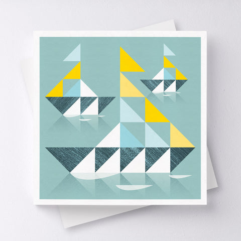 Ahoy There Boat Greeting Card
