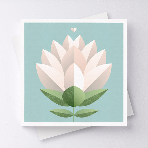 Bloom Flower Greeting Card