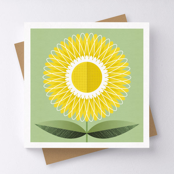Bright Side Flower Mini Greeting Card