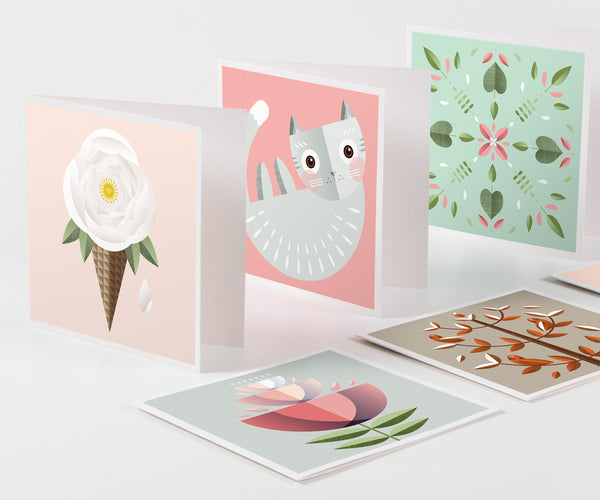 10 Pack Large Greeting Cards