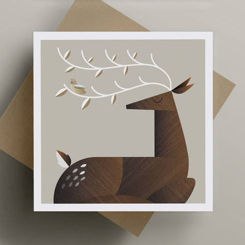 Reindeer Christmas Greeting Card