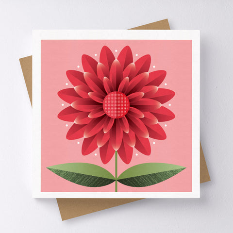Happy Days Flower Mini Greeting Card
