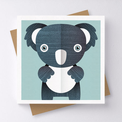 K For Koala Mini Greeting Card