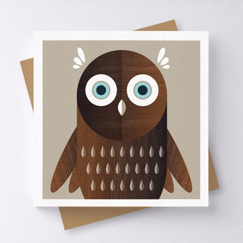 Little Hoot Owl Mini Greeting Card