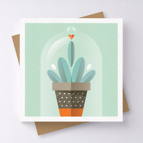 Lone Ranger Cactus Mini Greeting Card