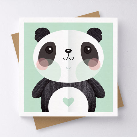 Love & Peace Panda Mini Greeting Card