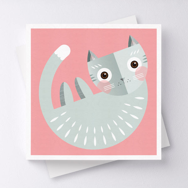 Meow Cat Greeting Card