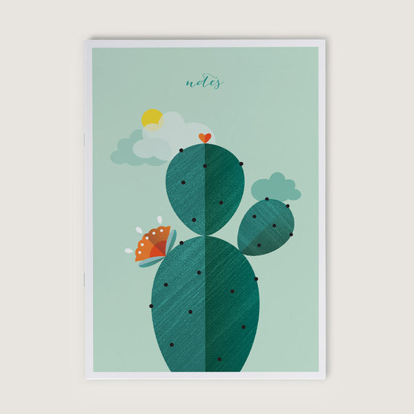 Green Thumb Cactus A5 Notebook