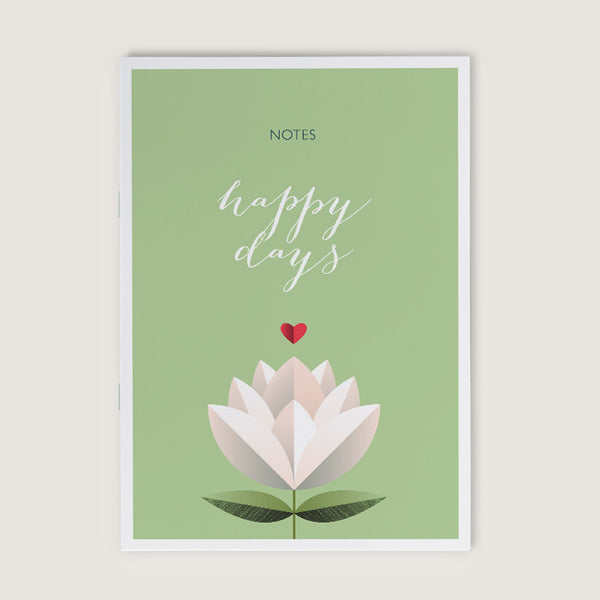 Happy Days Flower A6 Notebook
