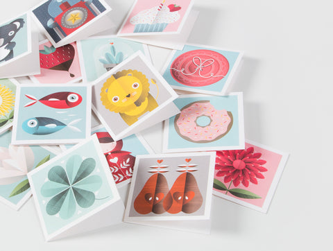 10 Pack Mini Greeting Cards