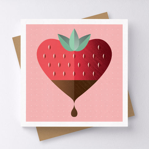 Ooh La La Strawberry Mini Greeting Card