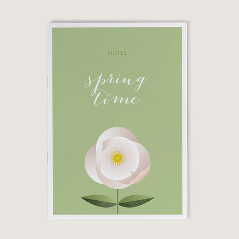 Spring Time Flower A6 Notebook