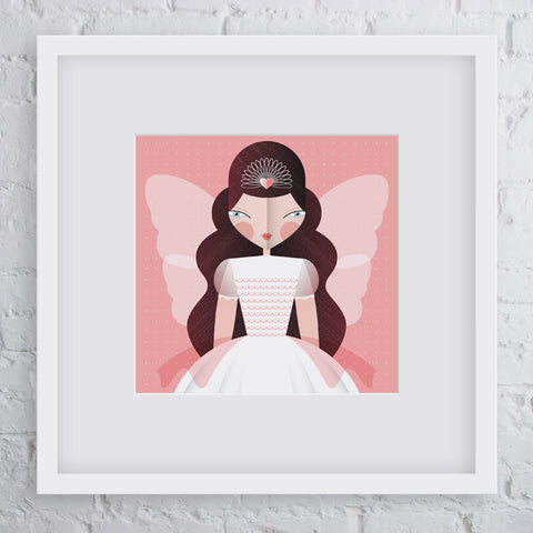 Fairy Princess Girl Art Print