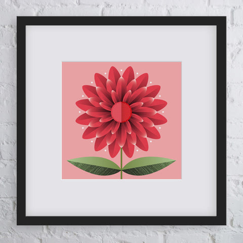 Happy Days Flower Art Print