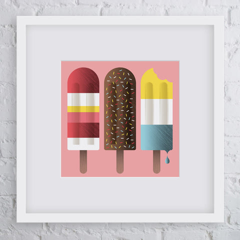 Irresistible Ice Cream Pink Art Print