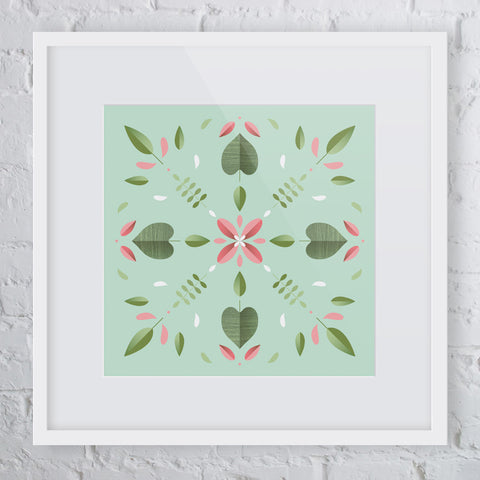 Kaleidoscope Flower Art Print