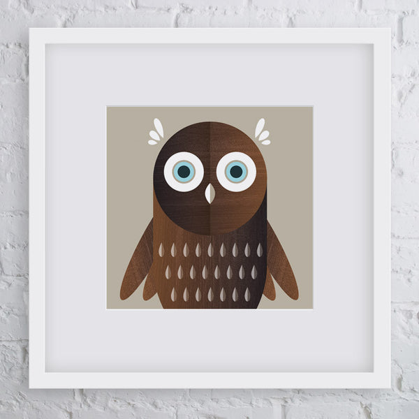 Little Hoot Owl Art Print