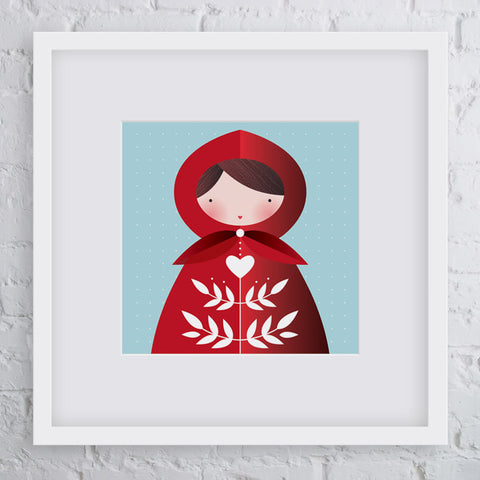 Little Red Girl Art Print